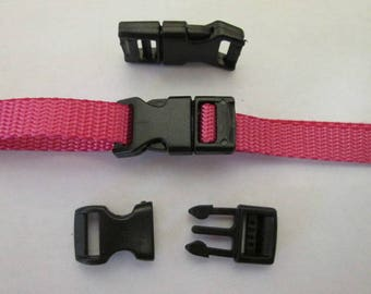 "Pack 20 pack 3/8"" Side Release Buckles. Great for Woven Bracelets, Paracord Bracelet"