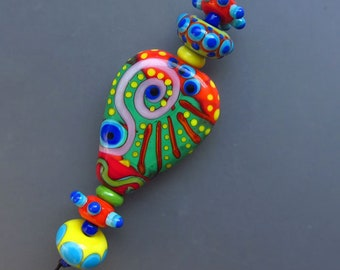 JAZZ - lampwork bead sets - Modern Glass Art by Michou P. Anderson (Brand/ Label Sonic & Yoko)