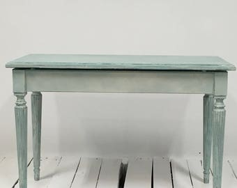Hand painted and hand distressed vintage bench.