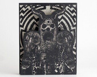Screenprinted Shrine Grey