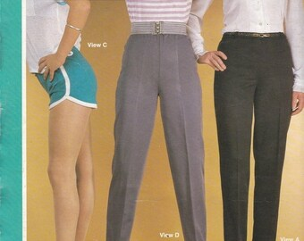 ON SALE 1980s Sewing Pattern - BevKnits 2800 Ladies Slacks & Shorts  Size 8 - 20 Factory folded and complete