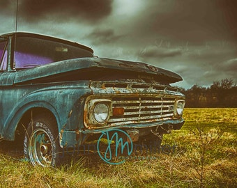 1964 Ford F-100, Ford,  Urban Decay, Abandoned, Rural Decay,  Wall Decor, Home Decor, Fine art print, Fine art photography, Photography