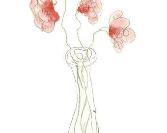Simple Flower Notecard