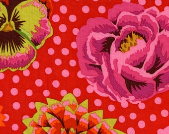 Classsics Big Blooms in Red by Kaffe Fassett for Westminster