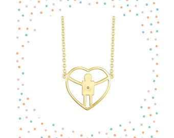 A perfect necklace for a mom with a son.