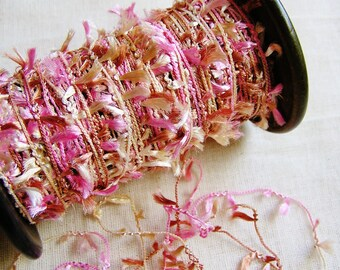 Raspberry Creme Petite Pearly Tassel Trim - 5 yards