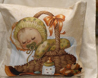 Baby stile Tapestry Pillow Case,
