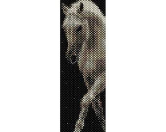 Horse 4 Peyote Bead Pattern, Bracelet Cuff, Bookmark, Seed Beading Pattern Miyuki Delica Size 11 Beads - PDF Instant Download