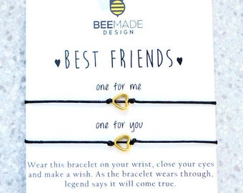 Gift for Best Friend Bracelet sets Matching bracelet for 2 birthday gifts for Best Friend Wish Bracelet for women gift for her
