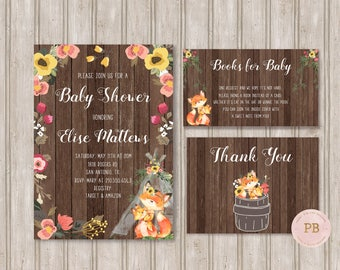 Woodland Baby Shower Invitation- Woodland Animal Birthday, First Birthday, Woodland Birthday Invitation, Deer Invitation, Digital,