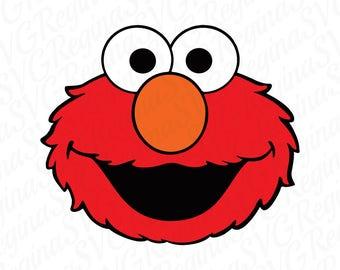 Elmo Sesame Street svg - svg, dxf, eps, png, Pdf - Download - Cut File, Clipart - Cricut Explorer - Silhouette Cameo