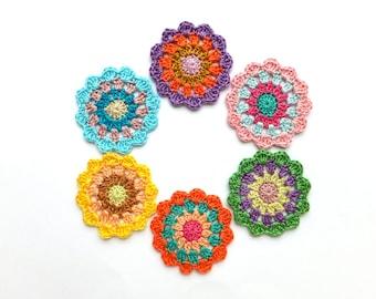Crochet Coasters Pattern Mandala With Bright