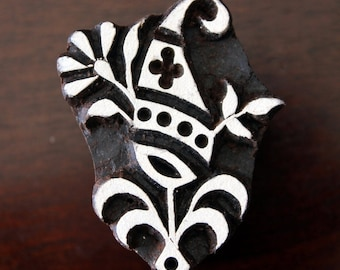 Pottery Stamps, Indian Wood Stamp, Textile Stamp, Wood Blocks, Tjaps, Printing Stamp- Paisley