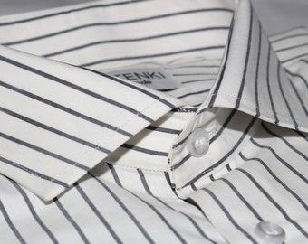 White & Black Houndstooth Shirt