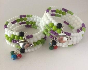 Buzz Lightyear Bracelet, Toy Story Bracelet, Pixar Bracelet, Disney Bracelet, Buzz Lightyear, Disney Jewelry, Glass Wrap Bracelet, Toy Story