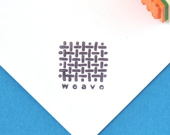 Weave Rubber Stamp, for price tags, for product tags
