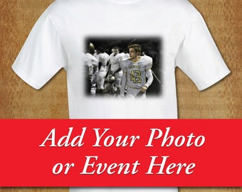 Photo T-Shirt, ADULT S-6XL*, White 100% Cotton -Custom-Choose Short Sleeve, Long Sleeve or Long Sleeve Hooded Tee