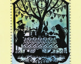 Bothy Threads Fairy Tales Mad Hatter's Tea Party from Alice in Wonderland Counted Cross Stitch Kit - 26x36cm