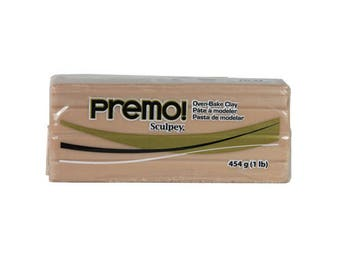 PREMO SCULPEY Beige Polymer Clay Oven Bake Professional Quality