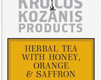 Herbal tea with krocus kozanis honey orange & saffron krokos kozanis