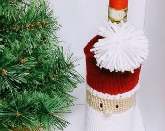 Santa Claus Wine Bottle Cozy