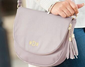 Sienna Tassel Bag, Crossbody Purse, Leather Crossbody, Crossbody with Tassel, Monogrammed Purse, Monogrammed Crossbody
