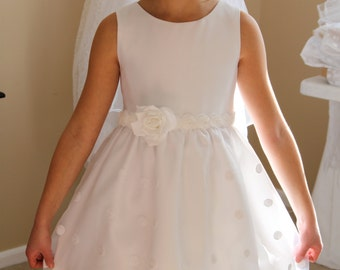 """First Communion Dress - Named """"Andrea"""""""
