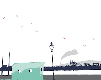 Seafront View Print