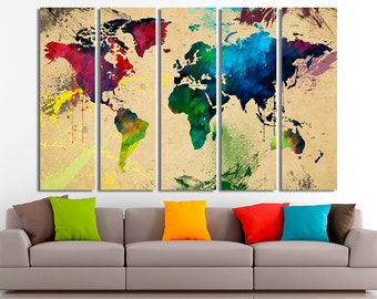 World map decor etsy world map art world map decor world map wall art world map canvas world map print gumiabroncs Gallery