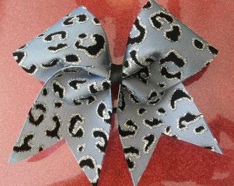 Glitter Cheetah Bow