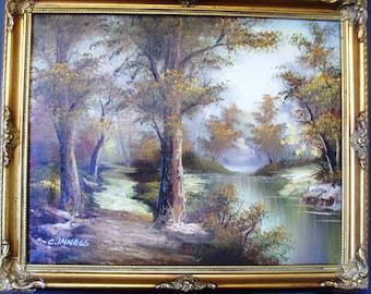 Beautiful Original C.INNESS Landscape oil painting