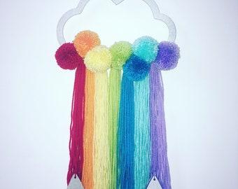 Rainbow cloud hanging