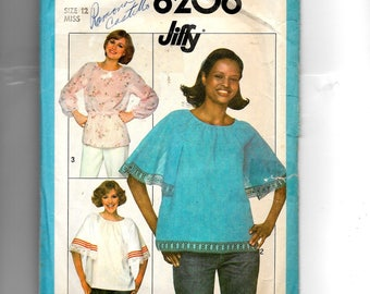 Simplicity Misses' Pullover Tops Pattern 8206