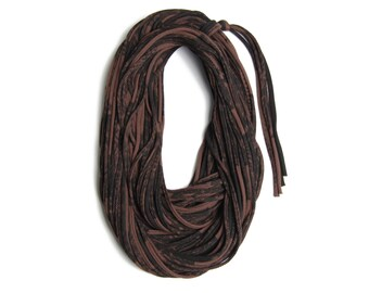 Brown Scarf, Statement Necklace, Travel Accessories, Fabric Jewelry,Travel Gift, Statement Jewelry, Scarves for Women, Scarf Women, Festival