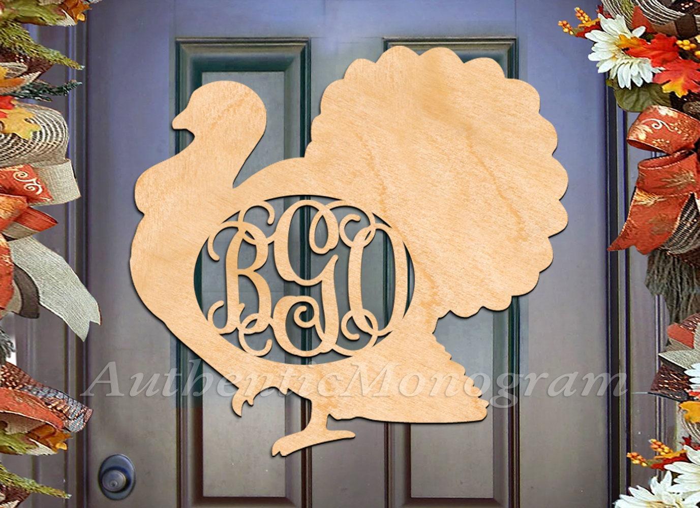 Thanksgiving Decorations - Fall decor Wooden Monogram - Custom ...
