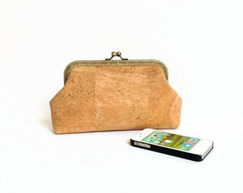 Cork Clutch - Eco Friendly Purse - Gift for Her - Cork Wallet