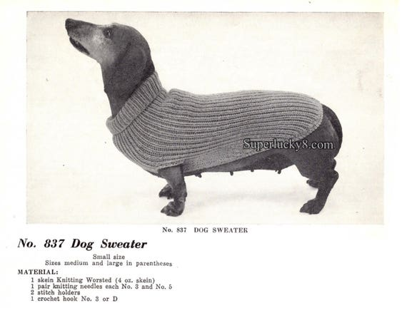 Awesome Knitting Pattern For Small Dog Sweater Component Sewing