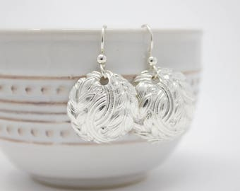 "Fine Silver Earrings ""Vines"""
