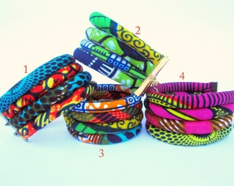 African style fabric cuff bracelet/ colorful cuff bracelet/ wedding jewelry/ bridesmaid gift for her