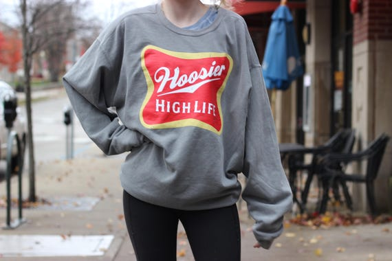 Hoosier High Life Crew Neck Sweatshirt in Comfort Colors Shades ly9102