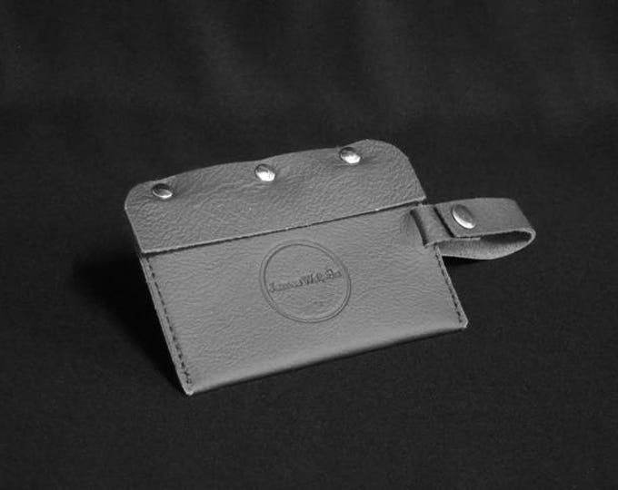Travel Luggage Tag - Black - Kangaroo leather - Handmade - James Watson