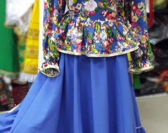Cossack costume (Kadril), Dance costume, cossack dress, kadril dress, Gipsy suit, Gipsy costume