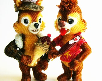 "Pattern / Tutorial Beaded Ornament - Master class for creating ""Chip and Dale"""