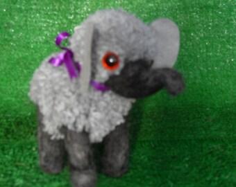 Needle Felted Pom Pom Elephant