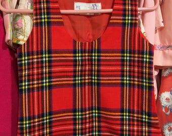 Plaid Jumper Dress 2/3T
