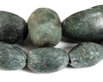 "Serpentine Stone Beads ""Amazonite"" African Museum Collection 70785"