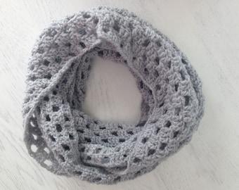 Crochet scarf, cowl scarf, womens scarves, Crochet Infinity scarf, Chunky scarf, Cowl hood, Gray Hooded Scarf, Hooded scarf, Crochet Snood