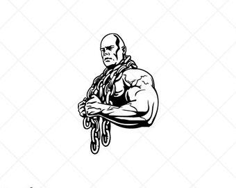 BODYBUILDING BODYBUILDER Weight Lifting-Clipart-Vector Clip Art Graphics-Download-Cut Ready Files-CNC-Logo-Vinyl Sign Design -eps,ai,svg,dxf