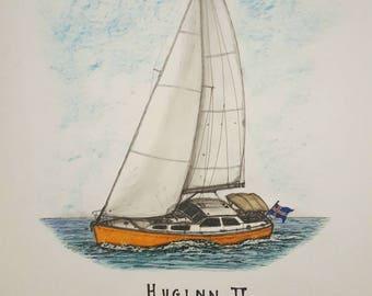 Boat Portrait - Huggin II
