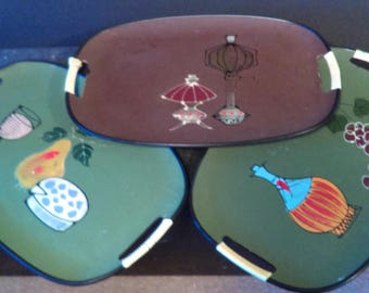 Vintage Serving Trays set of 3